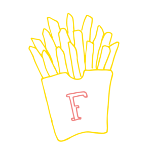 Illustration av pommes frites